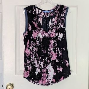 Simply Vera Wang Sleeveless Abstract Print Blouse